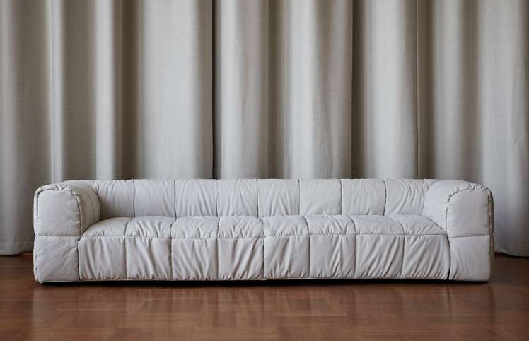 Strips Sofa - Three Seat - Brest Col 59 Milk White