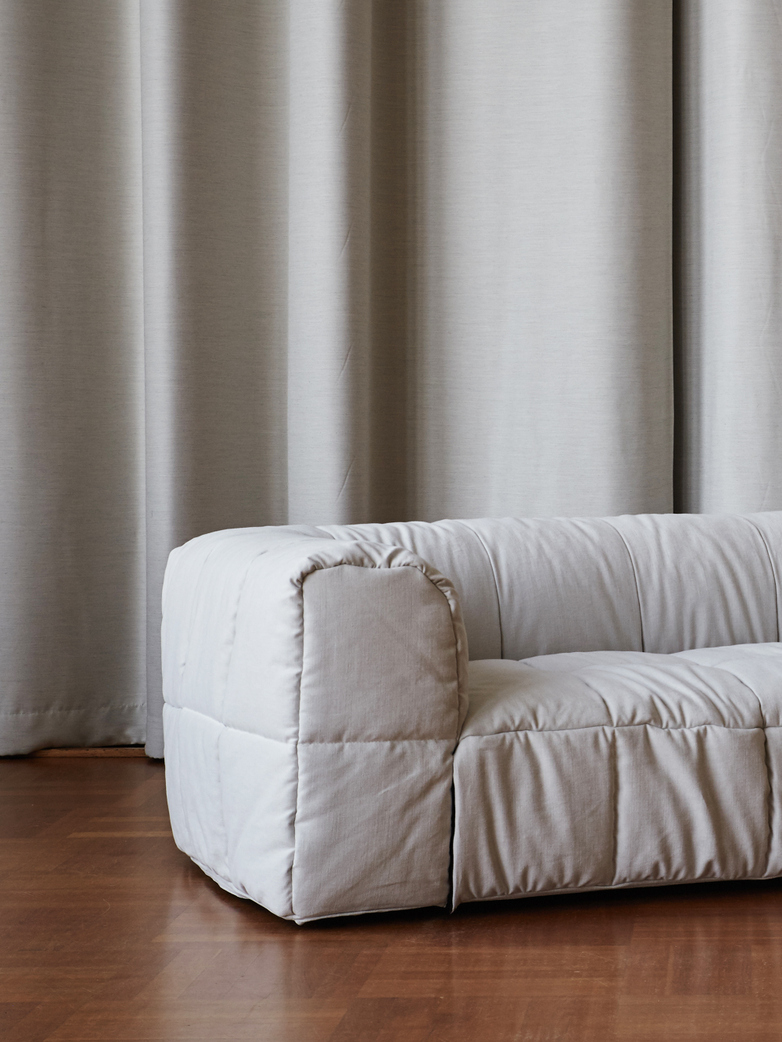 Strips Sofa - Three Seat - Brest Col 59 Milk White