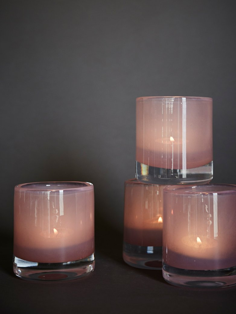 Belle Candle Holder – Peach – Small