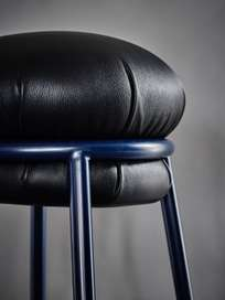 Grasso Stool - Black and Blue