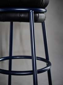 Grasso Stool - Black and Blue