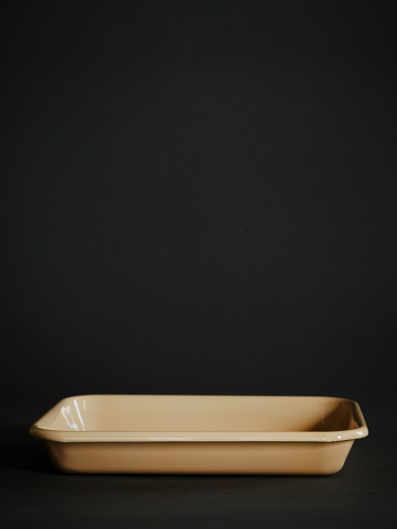 Enamel Tray - Brown