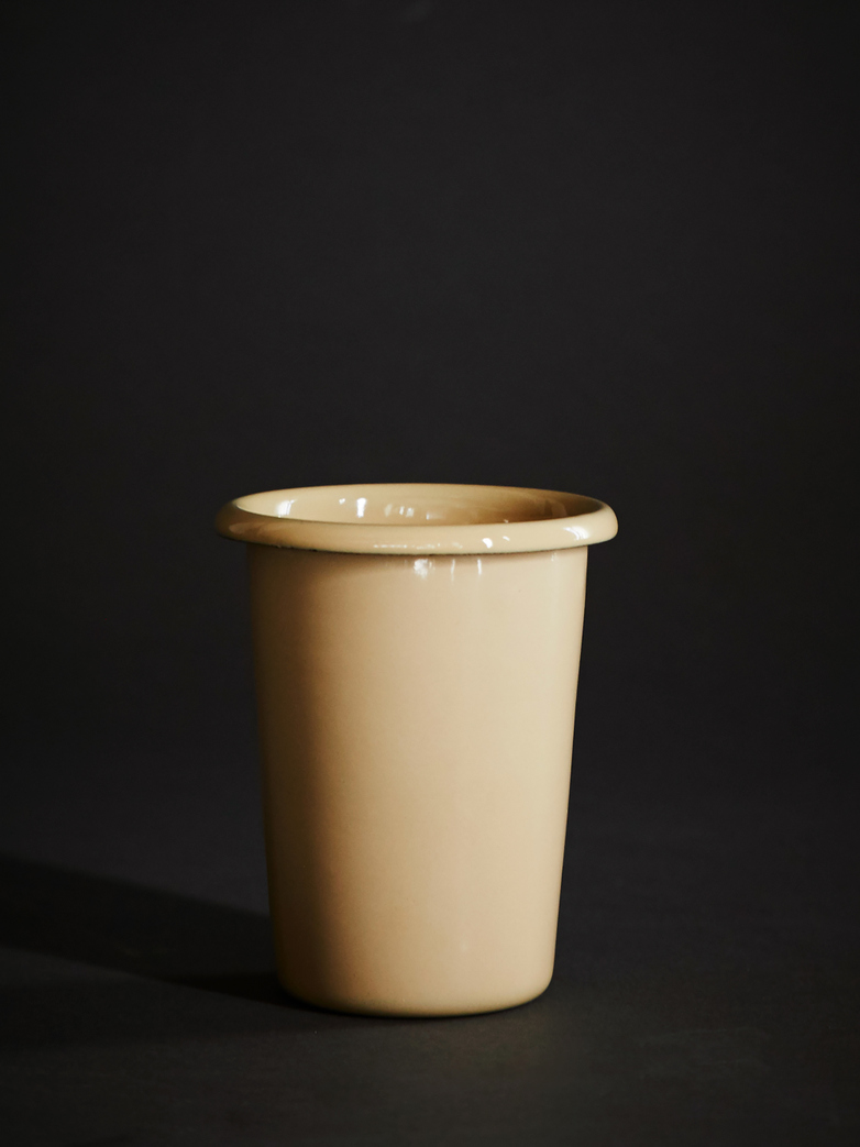 Enamel Cup - Brown