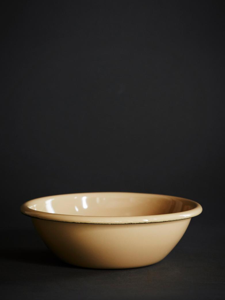Enamel Bowl - Brown