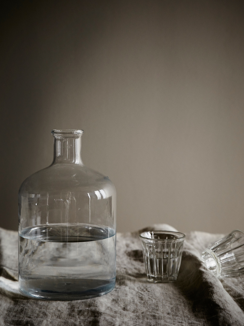 Turkish Cylinder Glass Bottle - Clear