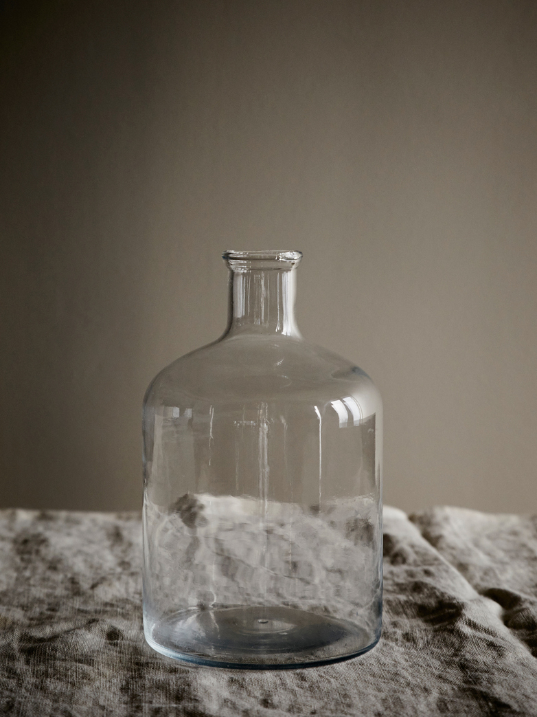 Turkish Cylinder Glass Bottle - Clear