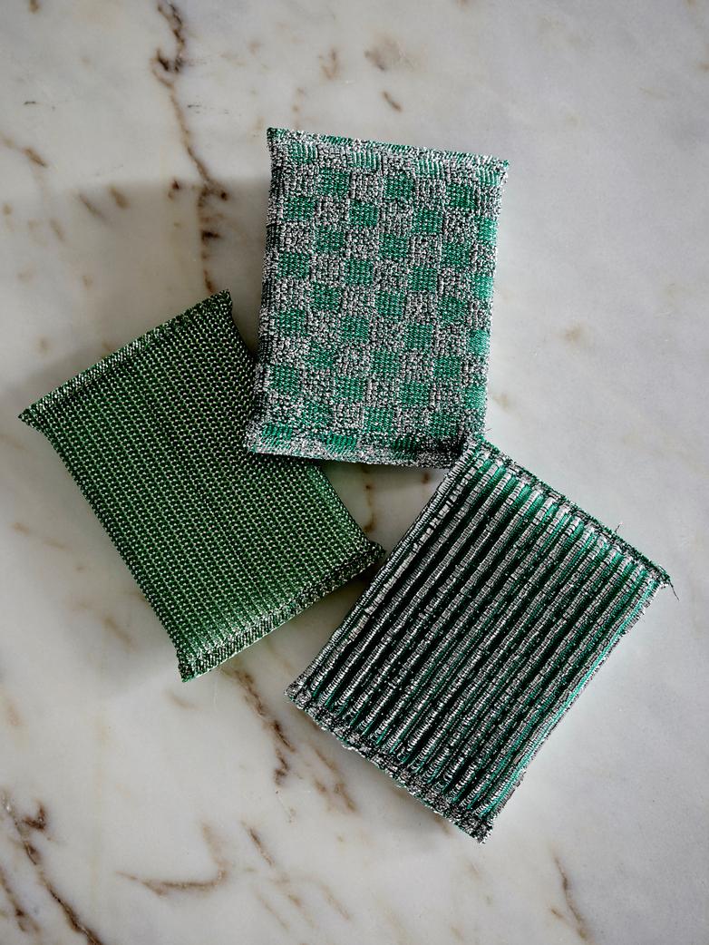 Glitter Sponge Set of 3 - Green