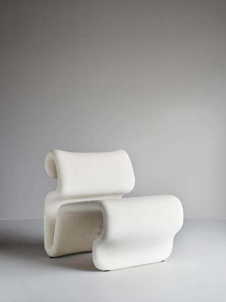 Etcetera Armchair – Creme White