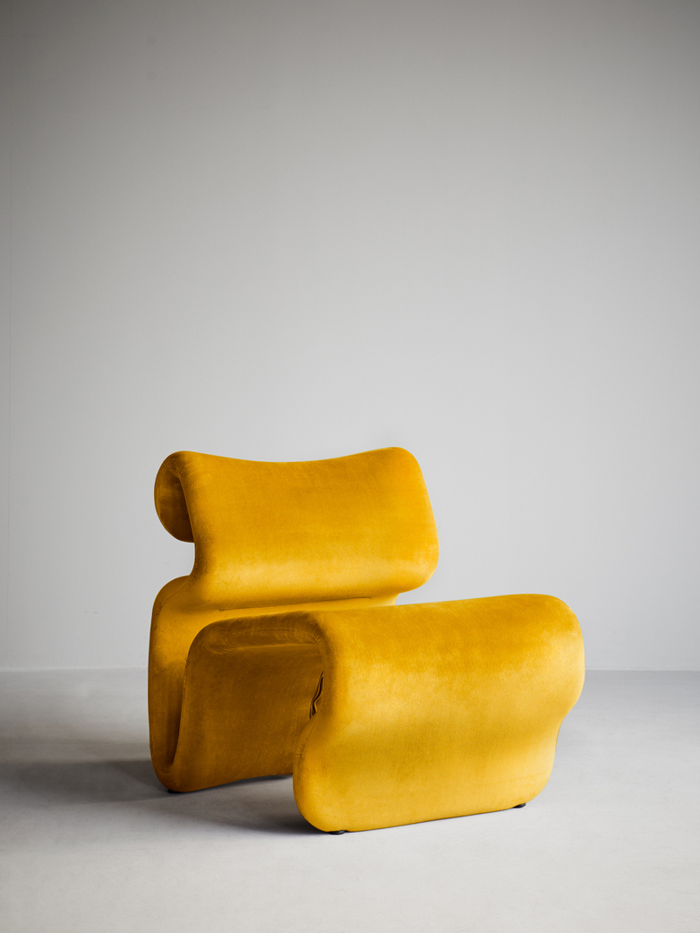 Etcetera Easy Chair – Canary Yellow