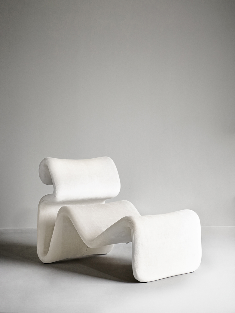 Etcetera Lounge Chair – Creme White