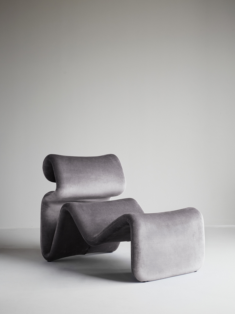 Etcetera Lounge Chair – Zink Grey