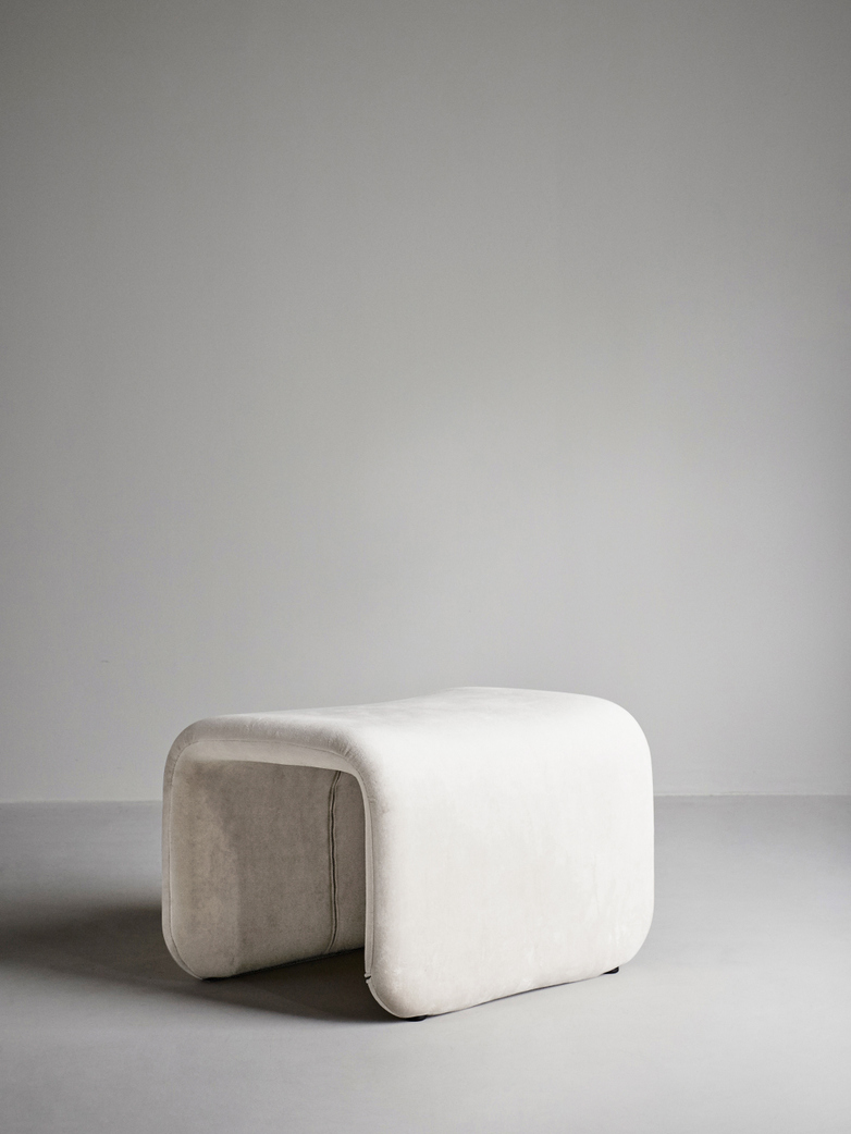 Etcetera Footstool – Creme White