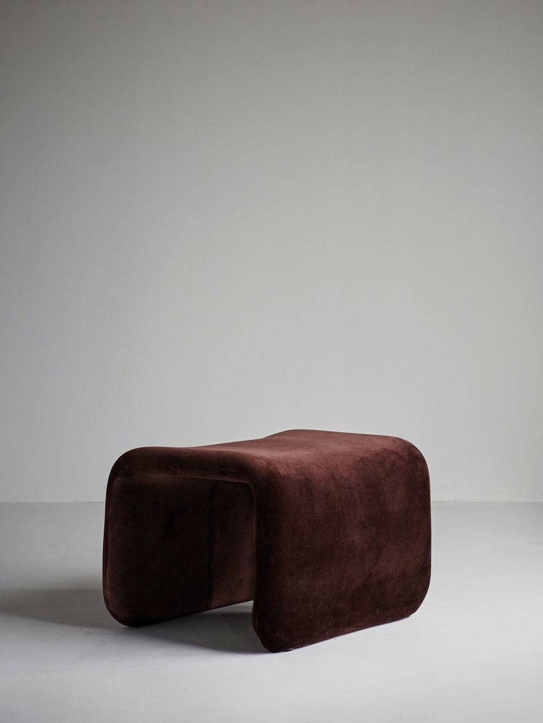 Etcetera Footstool – Chocolate Brown