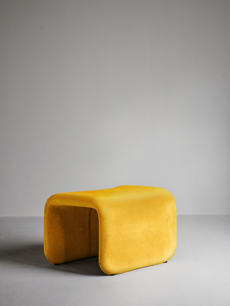 Etcetera Footstool – Canary Yellow