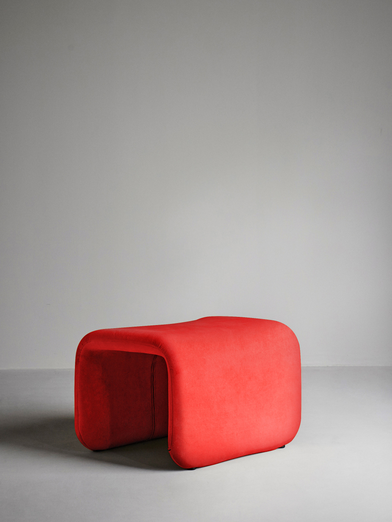 Etcetera Footstool – Chili Red