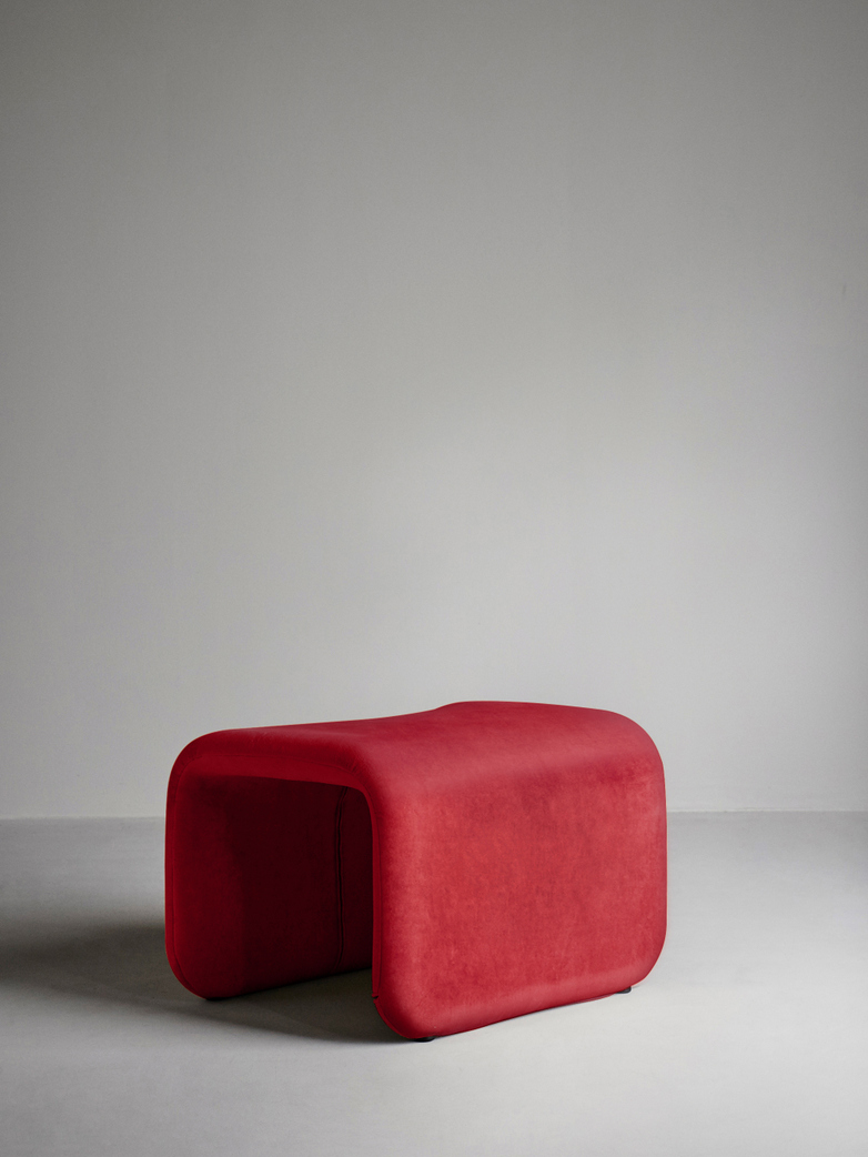 Etcetera Footstool – Ruby Red