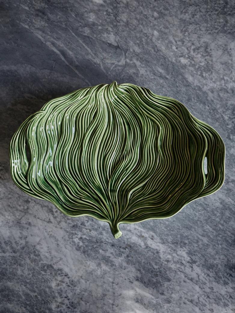 Platter Leaf Green Folhas – Large