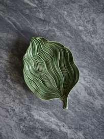 Platter Leaf Green Folhas – Small