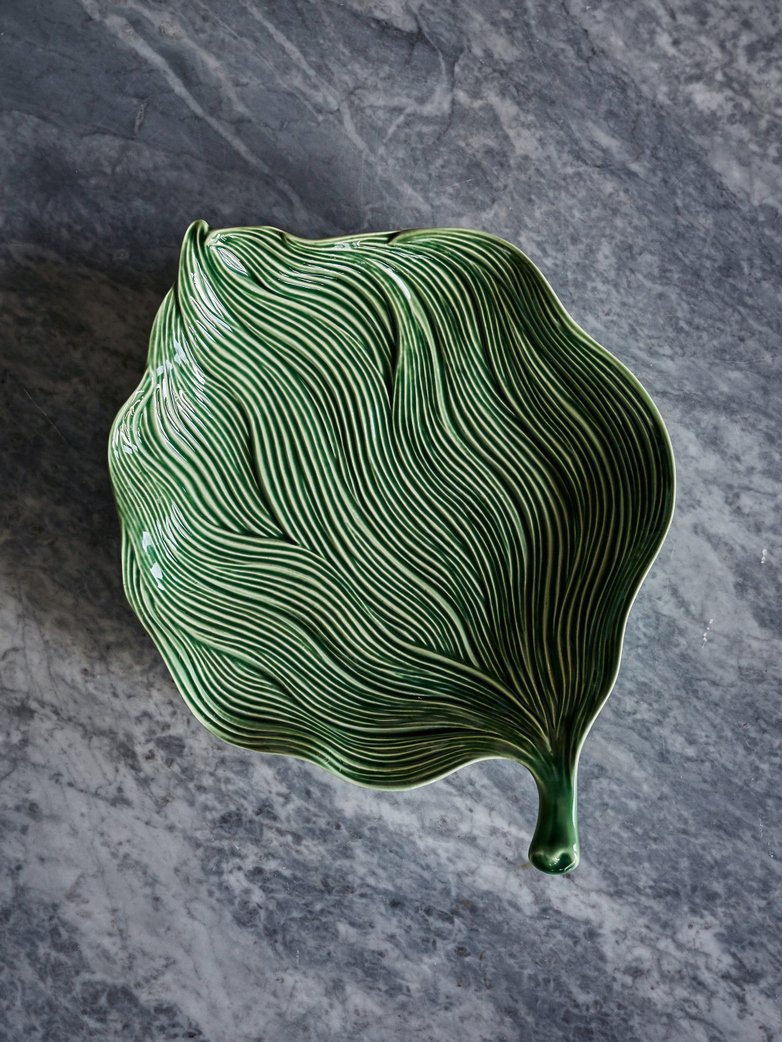 Platter Leaf Green Folhas – Medium