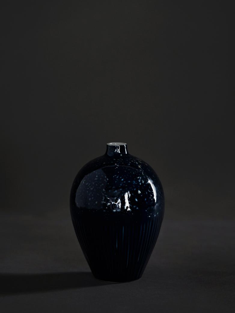 Ebba Ceramic Blue Vase – Medium