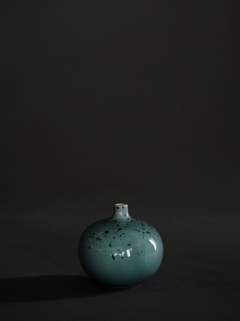 Bari Green Freckles Vase – Small