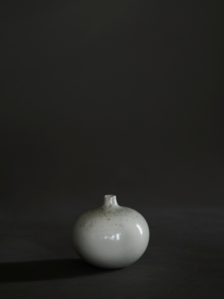 Bari White Freckles Vase – Small