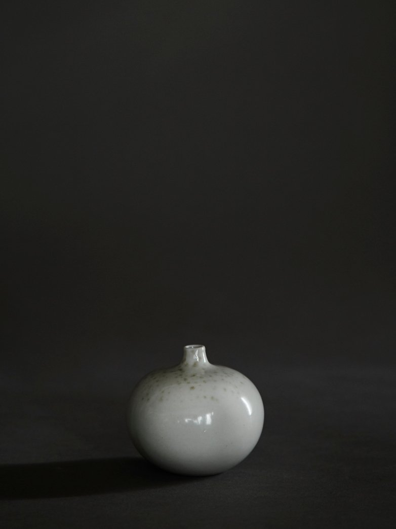 Bari White Freckles Vase – Small