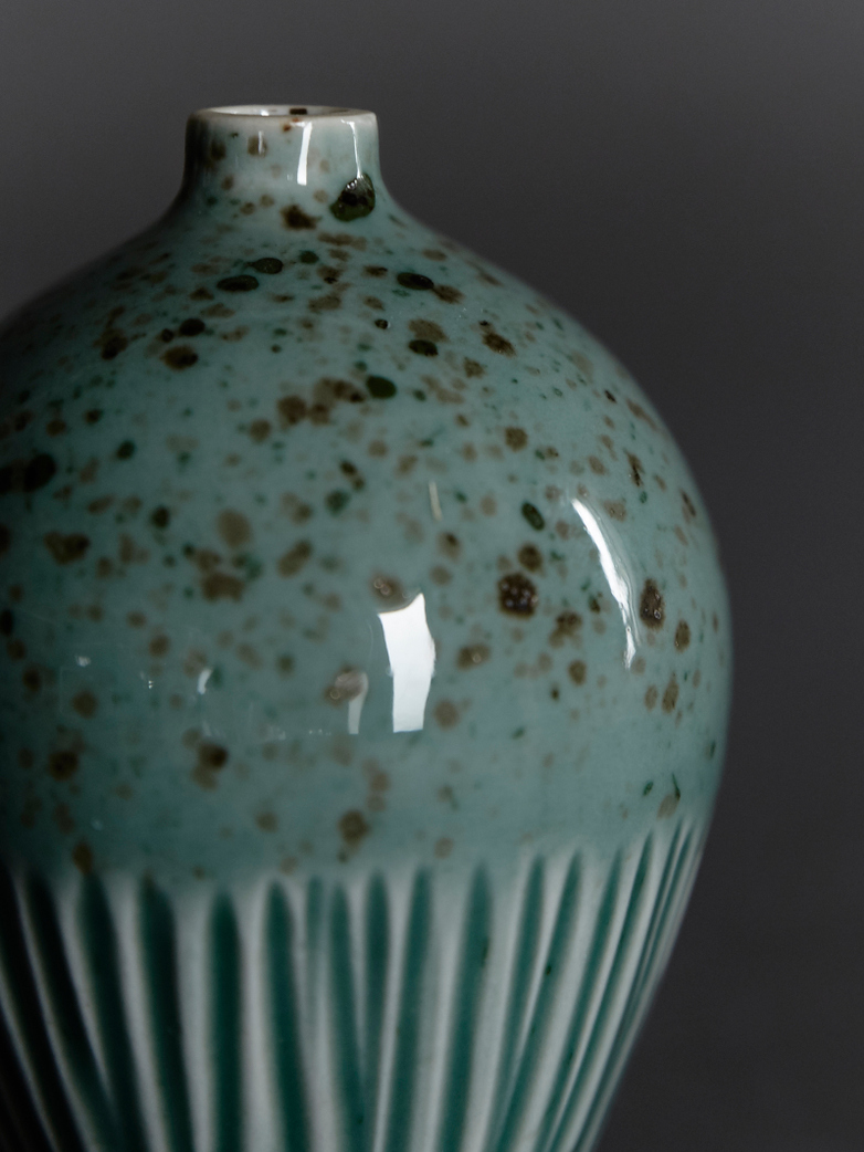 Ebba Green Freckles Vase – Small