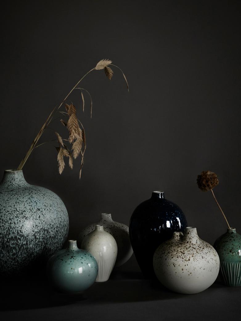 Ebba White Freckles Vase – Small