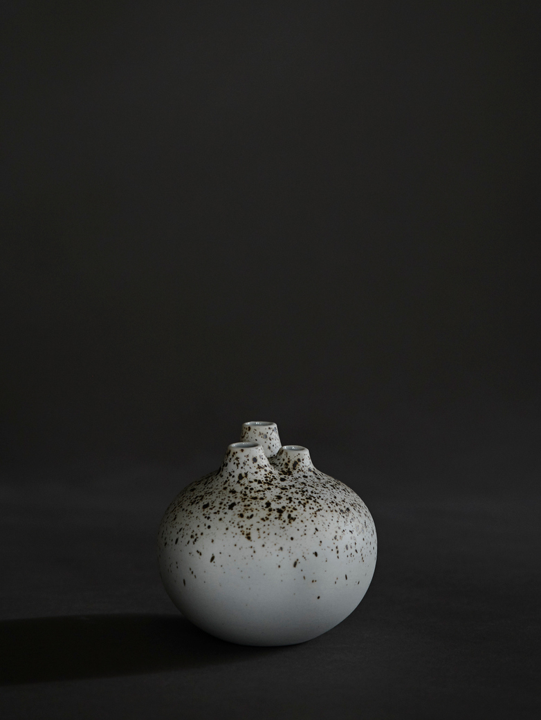 Bari 3 Melange Vase – White