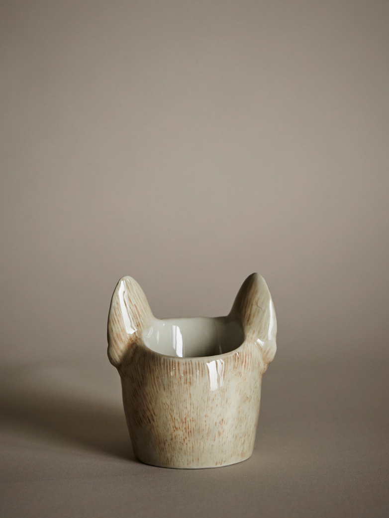 French Bulldog Face Egg Cup