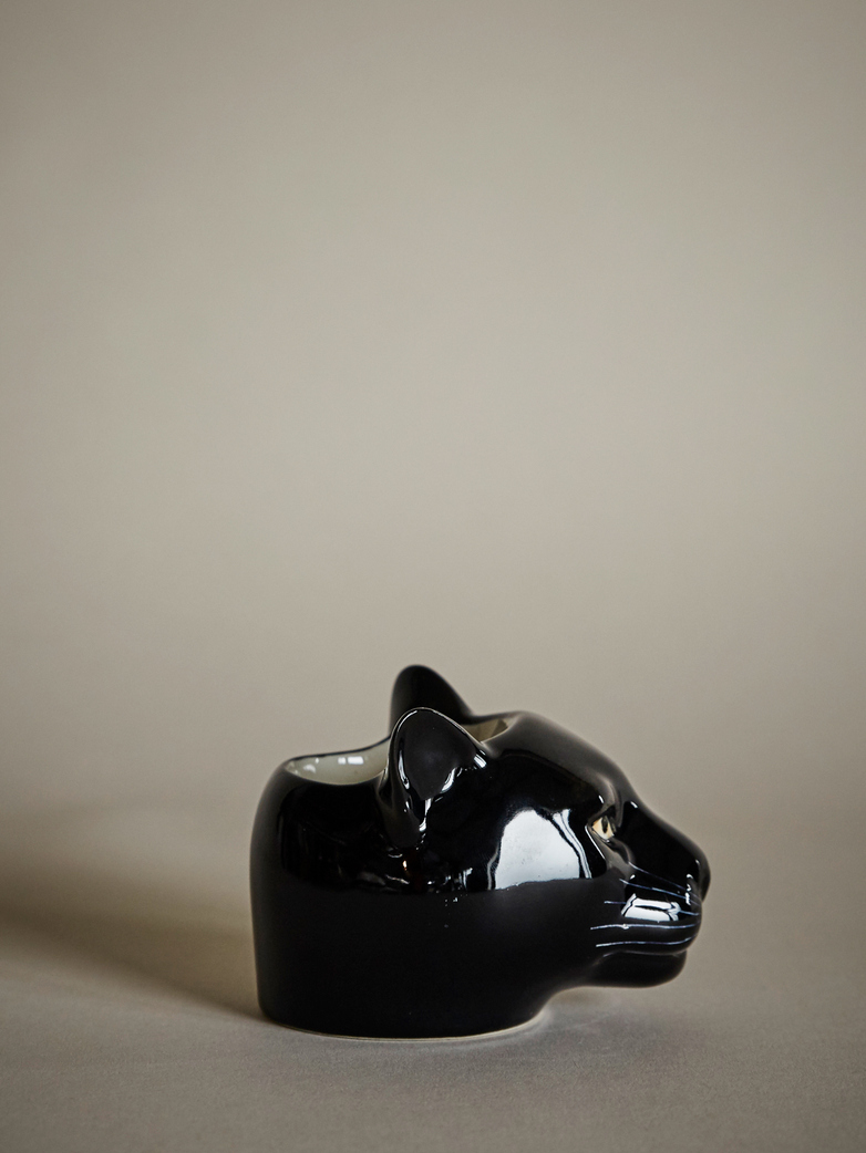 Panther Face Egg Cup