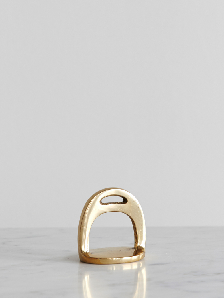 Stirrup Brass Paperweight