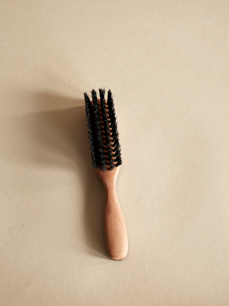 Pocket Hairbrush with Horn Decor