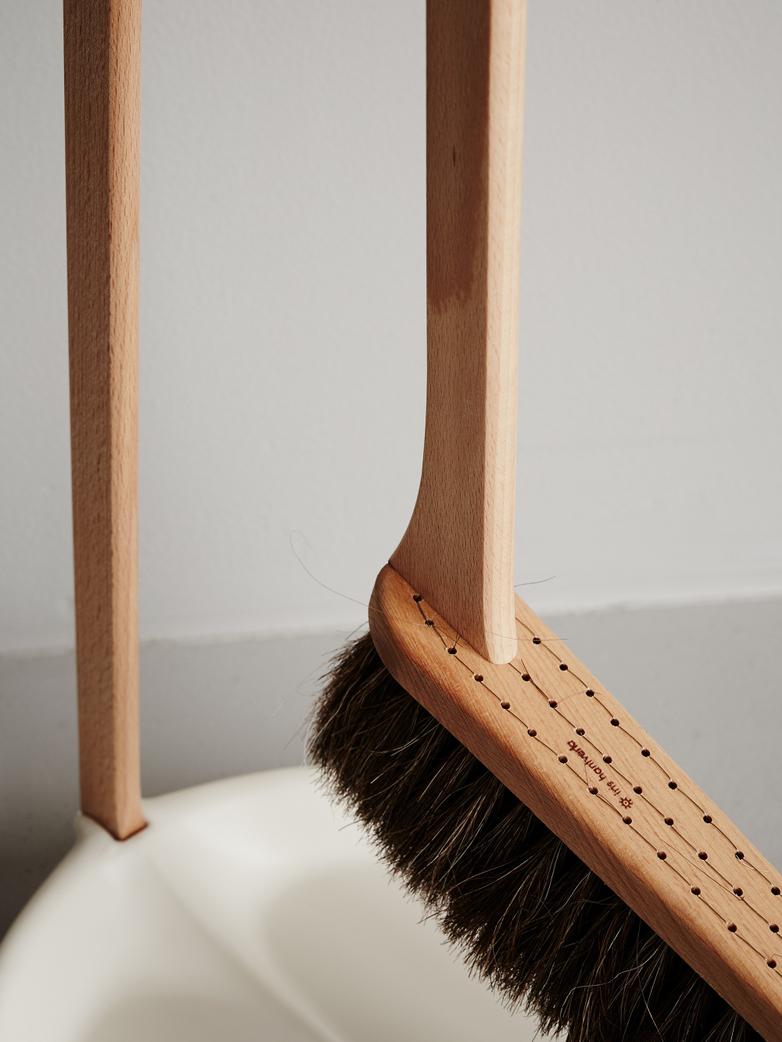 Dustpan and Brush Set - White