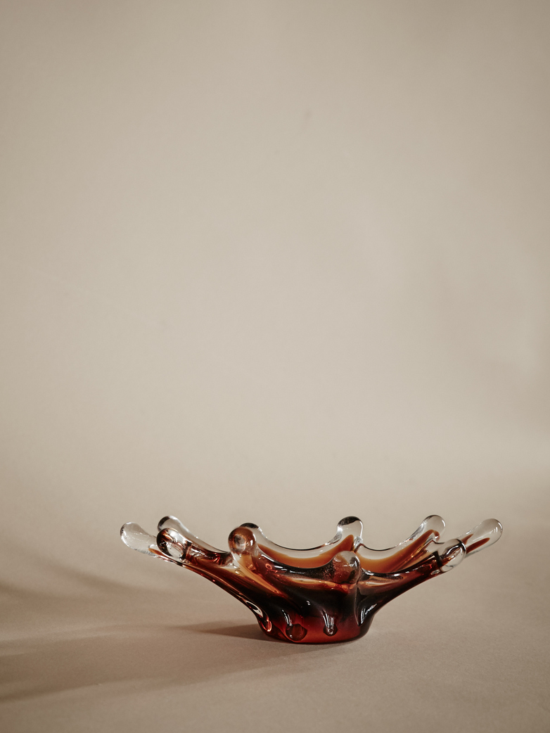 Trinket Splash Amber Glass