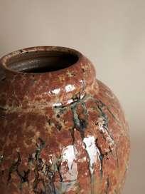 Glazed Copper Vase