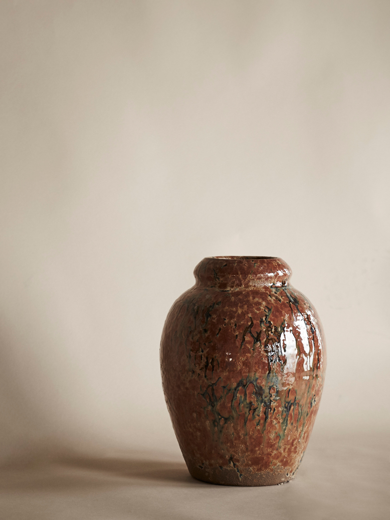 Glazed Copper Vase