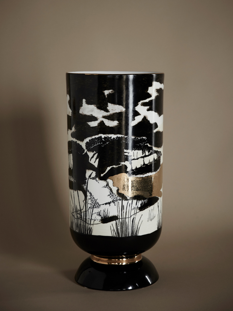 Golden Sunset Vase