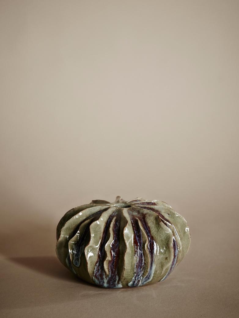 Winged Purple Vase