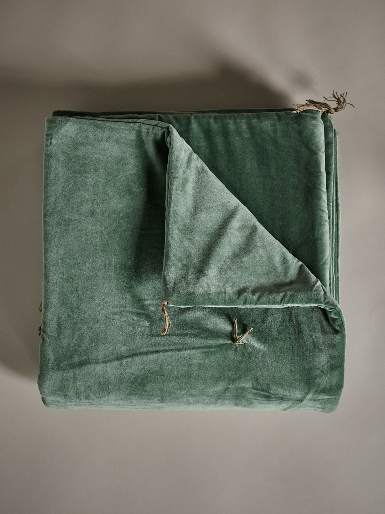 Velvet Sofacover – Light Green