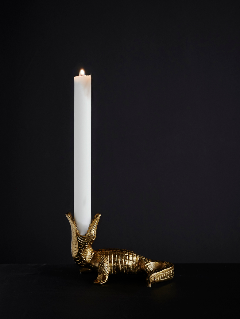 Crocodile Candle Holder