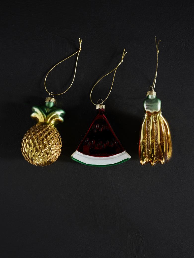 Fruit Ornaments – Set of 3