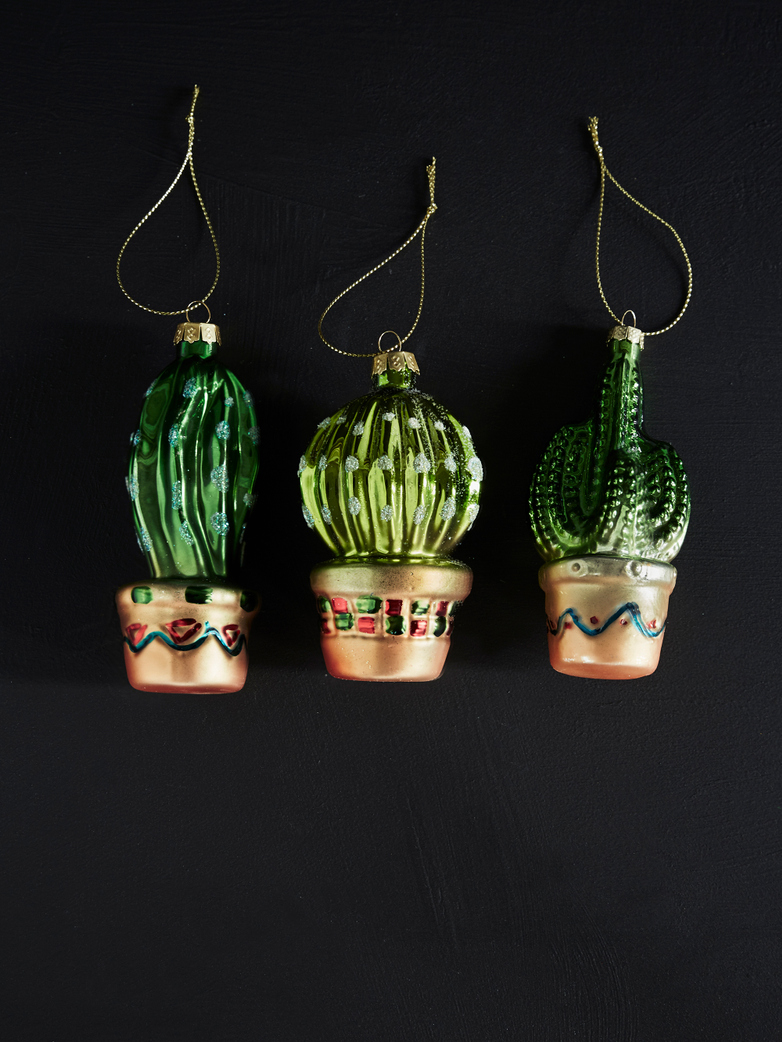 Cactus Ornaments – Set of 3