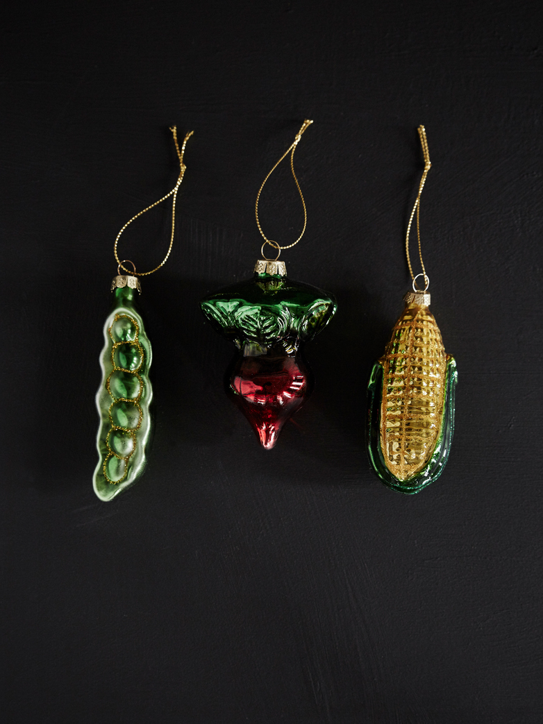 Vegetable Ornaments – Set of 3