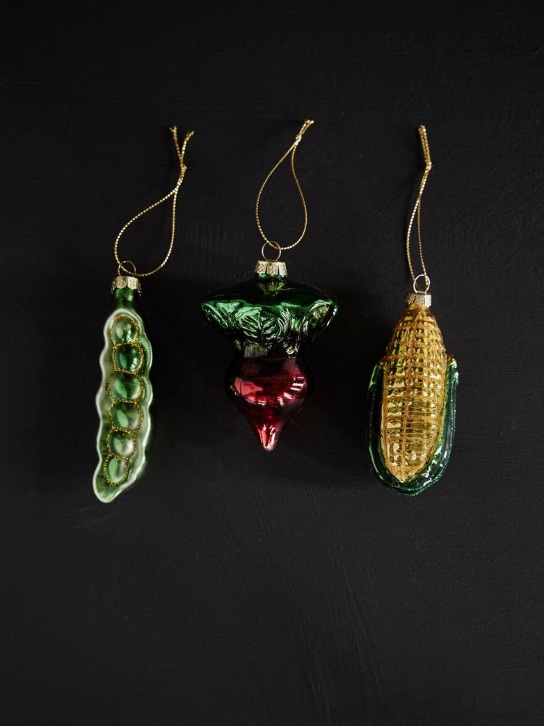 Vegetable Ornaments – Set of 3