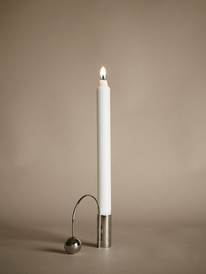 Balance Candle Holder – Chrome