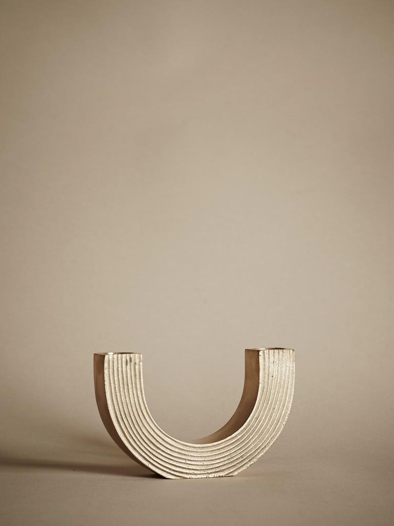 Arch Candle Holder – Brass