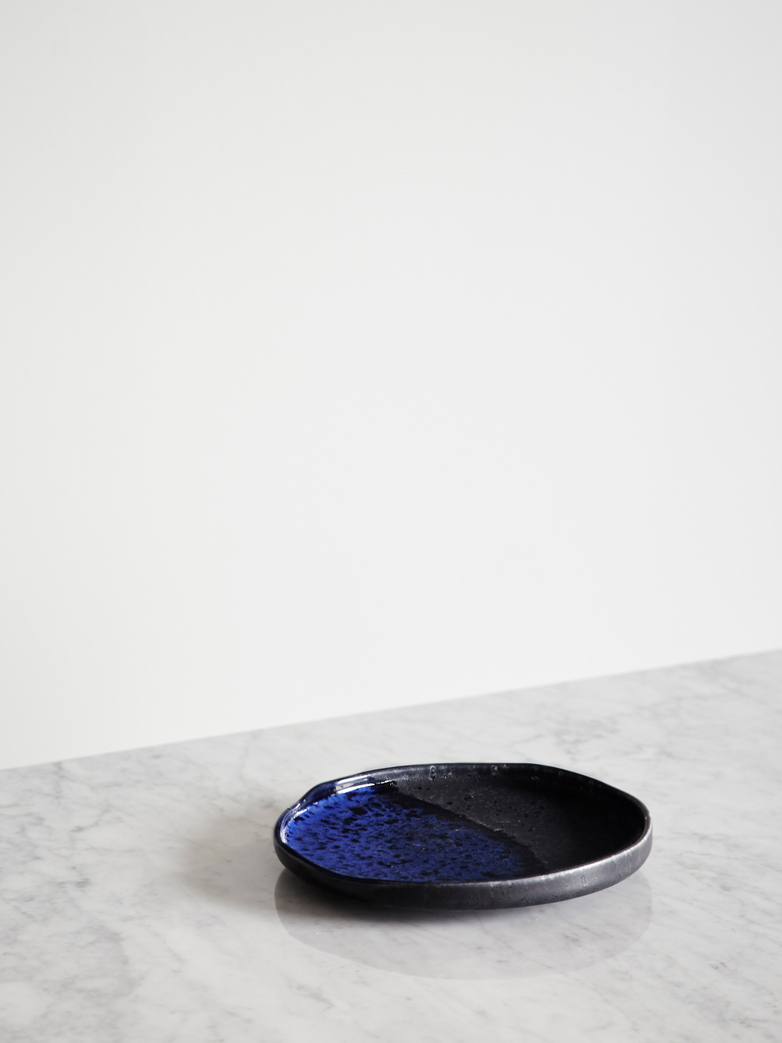 Kyoto Dessert Plate - Cobalt