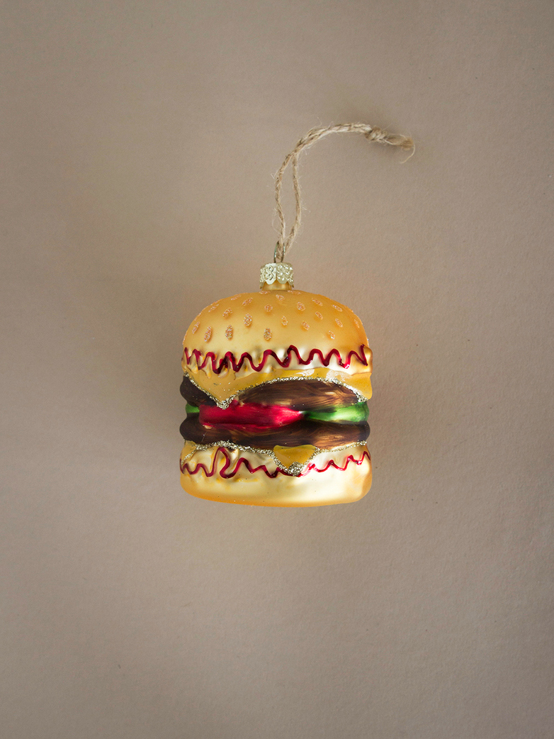 Double Cheeseburger Ornament